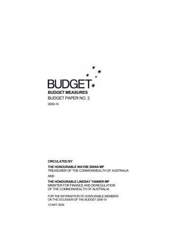 Budget Paper No. 2: Budget Measures