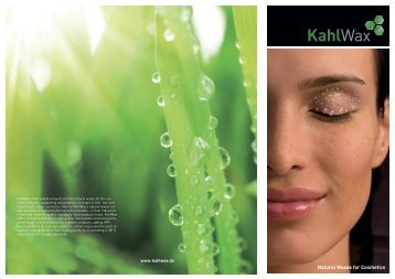 Product Finder Cosmetic Waxes - KahlWax
