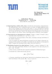 Solid State Theory Problem Set 2 — scattering - TUM