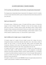 le istituzioni dell'unione europea - Consiglio regionale del Piemonte