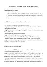la politica ambientale dell'unione europea - Consiglio regionale del ...