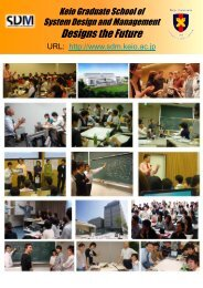 Faculties and Research Fields - Keio University