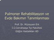 Pulmoner Rehabilitasyon ve Evde Bakımın Tanımlanması