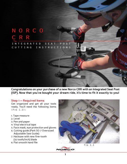 INtegrated seat post cuttINg INstructIoNs - Norco