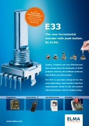 The new incremental encoder with push button. By ELMA.