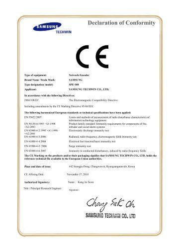 Eu declaration of conformity emc for Certificate of conformity uk template