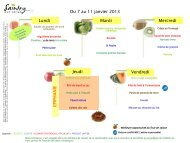 Lundi Mardi Mercredi Jeudi Vendredi Du 7 au 11 janvier 2013 E P ...