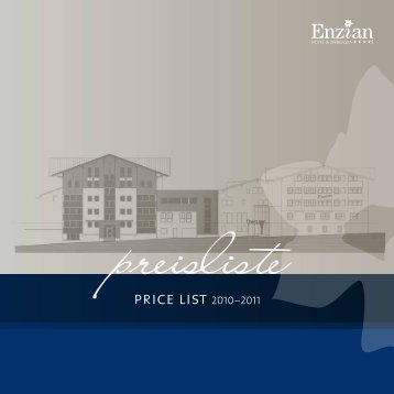 price list 2010–2011 - Hotel Enzian