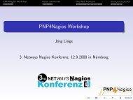 PNP4Nagios Workshop - netways