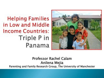 3. Rachel Calam.pdf - Parenting and Family Support Centre