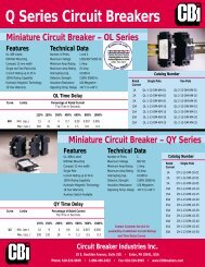 Q Series Circuit Breakers - Geeco
