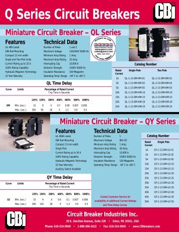 Q Series Circuit Breakers - Geeco