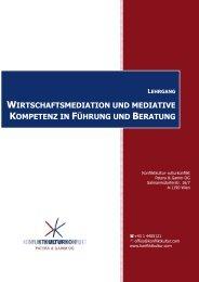 wirtschaftsmediation und mediative kompetenz in ... - Konfliktkultur