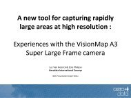 Experiences with the VisionMap A3 Super Large ... - Data Smart