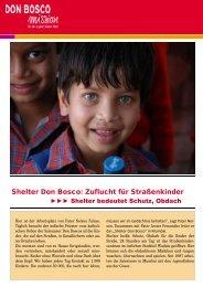 Indien Straßenkinder - Don Bosco Volunteers