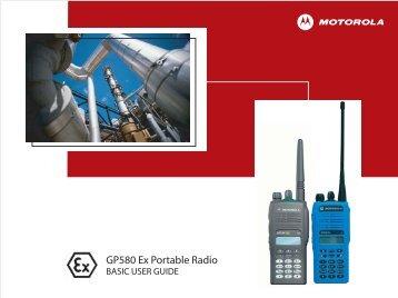 Userguide Motorola GP580 ATEX - English