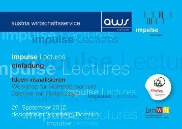 impulse Lectures einladung - impulse/aws