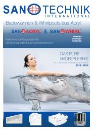 Badewannen & Whirlpools aus Acryl - Sanotechnik