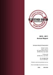 2010 - 2011 Annual Report - Surveyors Board of Queensland