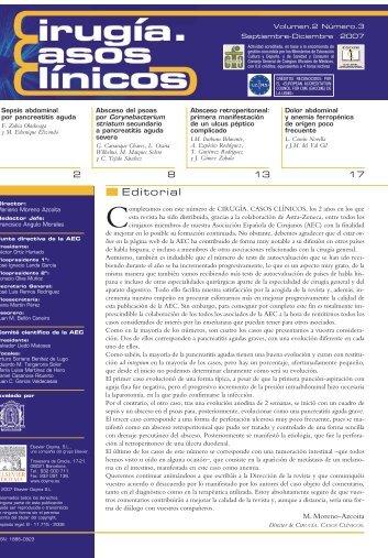 Cirugía Casos Clínicos. Volumen 2. Número 3