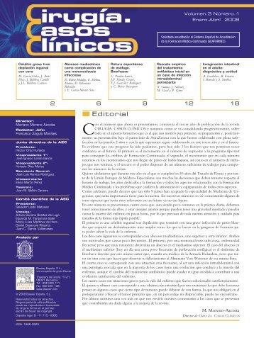 Cirugía Casos Clínicos. Volumen 3. Número 1