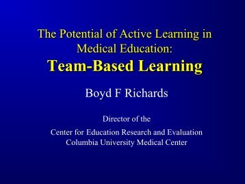 The Potential of Active Learning in Medical Education