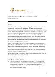 Visie op Richtlijnen en Evidence Statements - Kngf