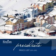 price list 2011–2012 - Hotel Enzian