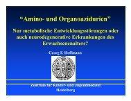 """""""Amino- und Organoazidurien"""""""