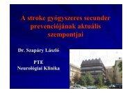 A stroke gyógyszeres secunder prevenciójának aktuális szempontjai