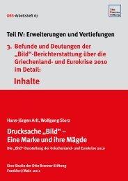 Befunde und Deutungen: Inhalte - Otto Brenner Stiftung