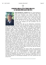 Pfarrbrief Nr. 1/2010, Teil 2 - Pfarre Zwettl an der Rodl