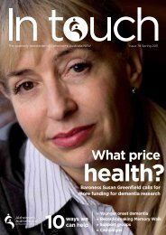 Issue 79 Summer 2011 (PDF) - Alzheimer's Australia