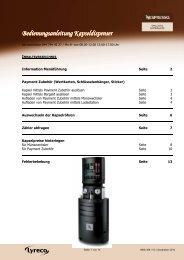 Bedienungsanleitung Kapseldispender (PDF) - lyreco