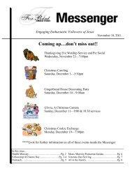 November 18, 2011 Messenger - Fox Point Lutheran Church