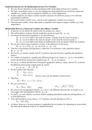 Statistical Inference for the Relationship between Two Variables ...