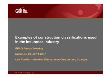 Examples of construction classifications used p in the ... - EPAQ