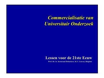 Commercialisatie van Universitair Onderzoek - KU Leuven