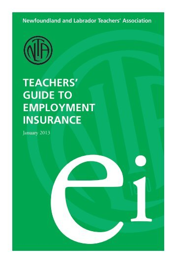 Teacher's Guide To Employment Insurance - Newfoundland and ...