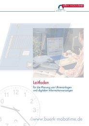 Leitfaden für Zeitdienstanlagen - Bürk Mobatime GmbH