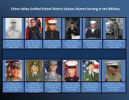 Military Salute - Chino Valley Unified School District