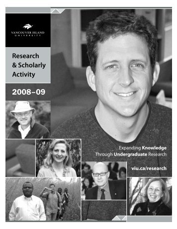 Research & Scholarly Activity at Vancouver Island University 2008
