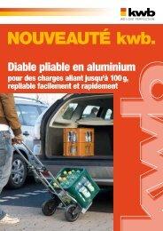 kwb Diable pliable en aluminium