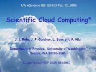 Scientific Cloud Computing - University of Washington