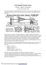 Proč funguje Clemův motor - Free Energy