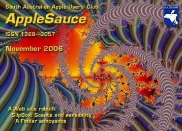 AppleSauce November 2006 - South Australian Apple Users' Club