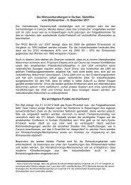 Die Klimaverhandlungen in Durban, Südafrika vom ... - Wibke Brems