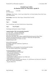 Protokoll Runder Tisch 21.09.04 - Agenda-wuerselen.de