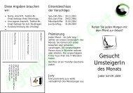 UmsteigerIn des Monats gesucht - Agenda-wuerselen.de