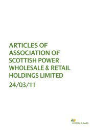Memorandum and Articles of Association of the Scottish Power ...